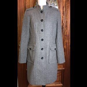 Worthington Wool Blend Military Style Long Peacoat